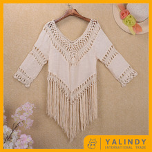 Hot Sale Personalized Women Crochet Fringe Beach Top