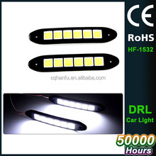Bendable led Daytime Running light 100% Waterproof COB Day time Lights flexible LED Car DRL Driving lamp