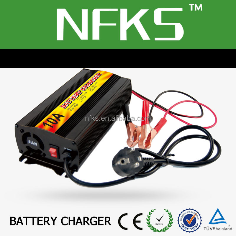 Intelligent 10A 20A 25A Car Battery Charger Fast Charging 110V