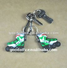 Hot selling promotional gifts skate shoes shape soft pvc key chain