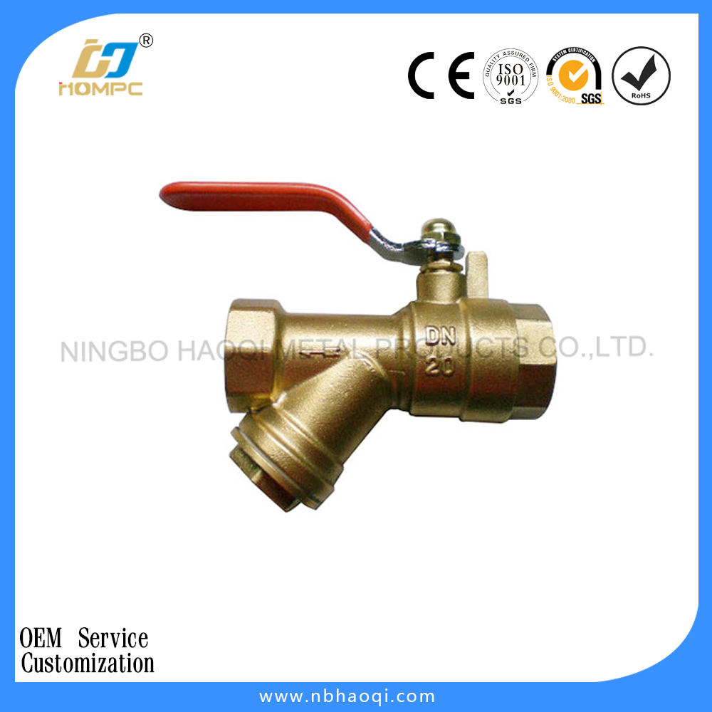 Female Thread with Y Type Strainer Brass Ball Valve