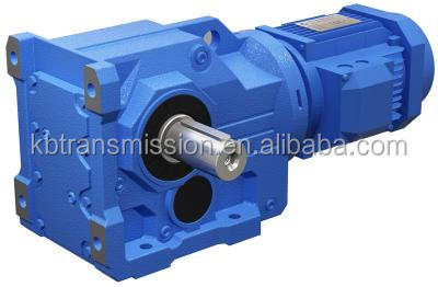 SEW style power transmission high torque reducer low speed reduction gear motor K series 90 degree angle gearbox
