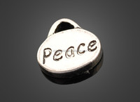 Silver letter peace alloy pewter charm,nice handbag charm accessories in Yi wu