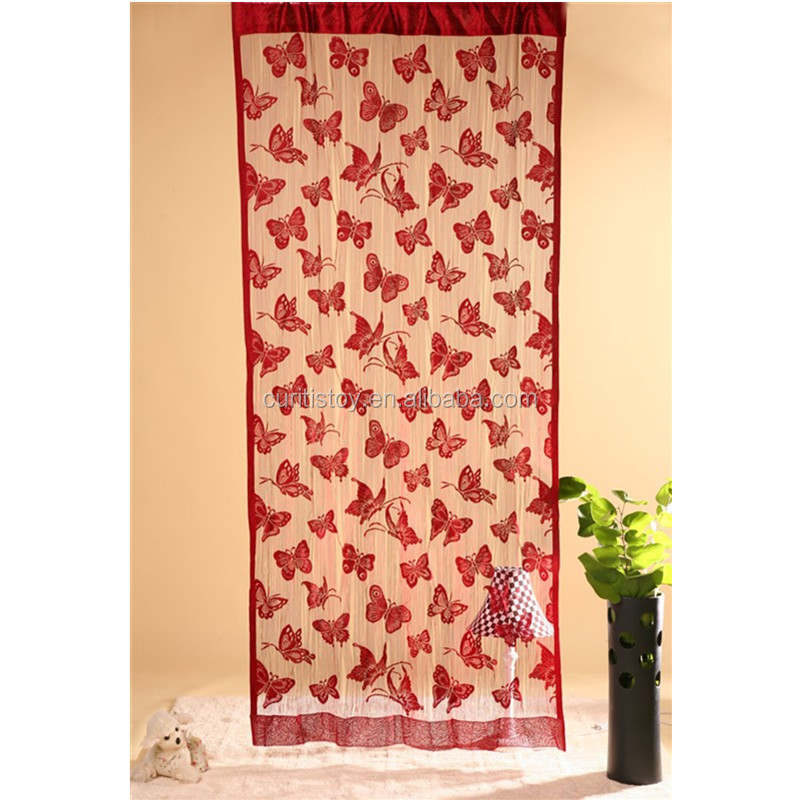 100cm*200cm Decorative Wine And Grey Color Door room divider Curtain living room Modern Style Butterfly office door curtain