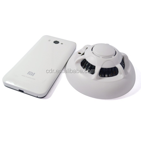 Trade Assurance Smoke Detector Wireless Wifi hidden Camera 1080p UFO P2P Mini Dome Camera Support Iphone Android Mobile Phone