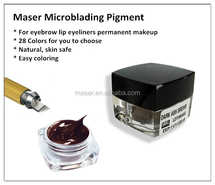 Micropigmentation microblading cream for eyebrow manual pen professional eyebrow embroidery pigments
