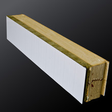 polyurethane foam Pu and rock wool acoustic wall sandwich panel for mobile home ceiling