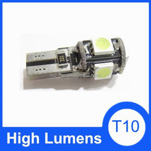 5SMD T10 Canbus auto led bulb top sale canbus led bulbs t10 12v car t10 led
