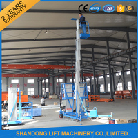 Single mast aerial man lift with 6m