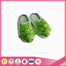 2016 hot selling cute turtle animal head bedroom slippers