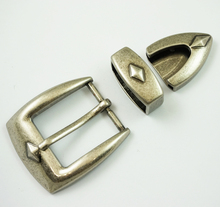 Fahsion 30mm belt buckle set pin buckle with keeper and tip