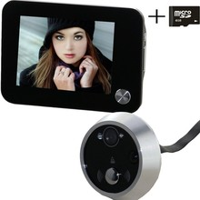 Saful 3.5 inch support motion sensor door peephole camera with night vision