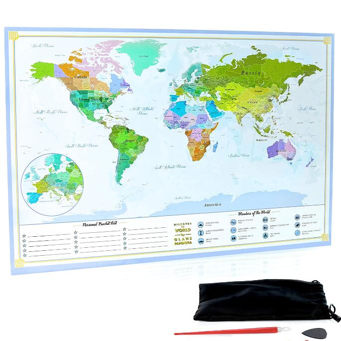 Scratch Off Map Customized Scratch Map,Detailed Scratch Off World ...