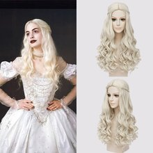blonde ponytail wavy wigs cosplay