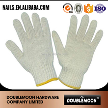Wholesale palm PVC dotted cotton knitted working garden gloves