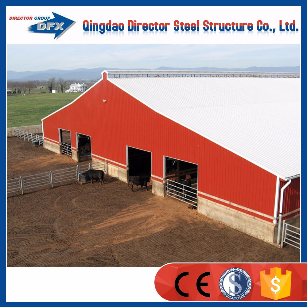 steel frame structure prefabricated poultry shed for chicken and pig and cow