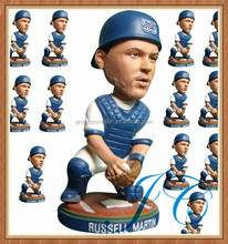 2015 Fashionable custom sports player bobble head with low price