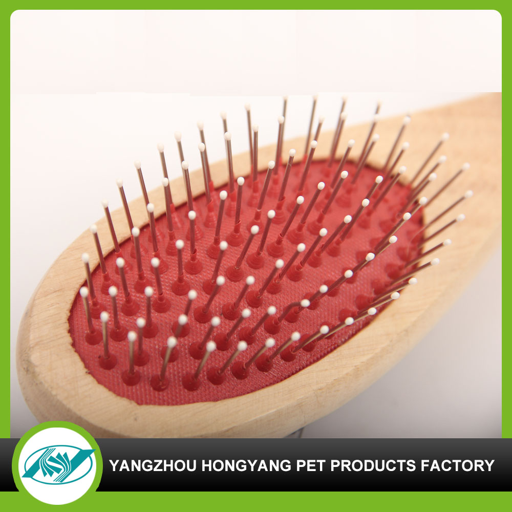Dedicated and customized dog wooden hair brush