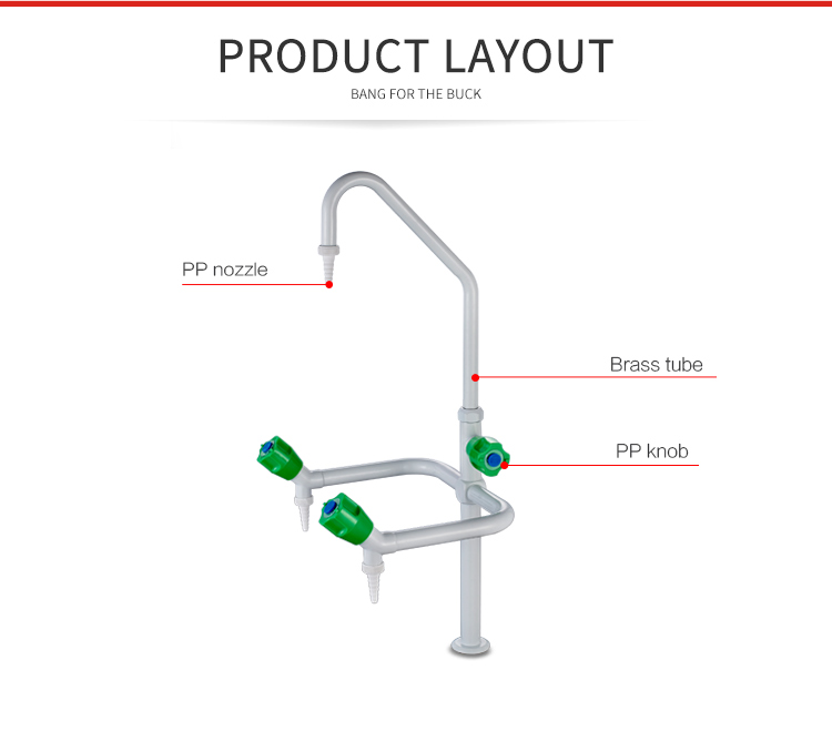 3302A Industrial Laboratory 3 Way Water Faucet Tap