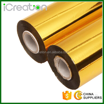 Stock custom High quality Gold Silver Hot Stamping Foil for Leather