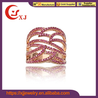 Various Design Cubic Zircon Gold Finger Ring Rings Design For Women With Price