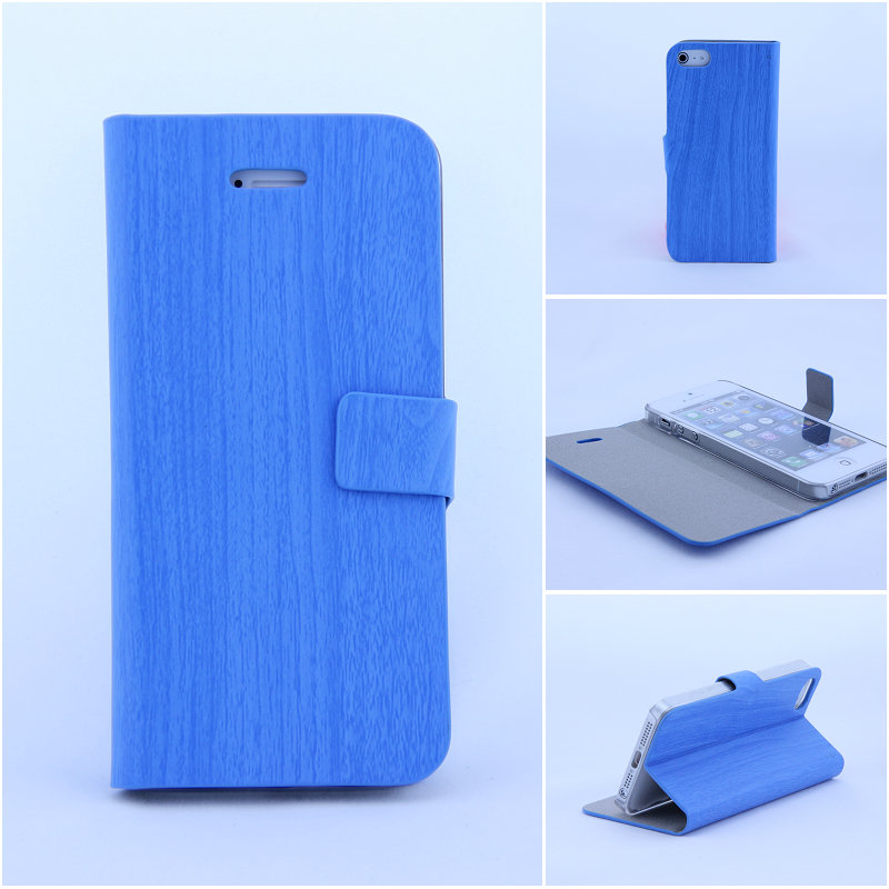 Bamboo grain folio stand leather case,for samsung galaxy S4 i9500 leather case