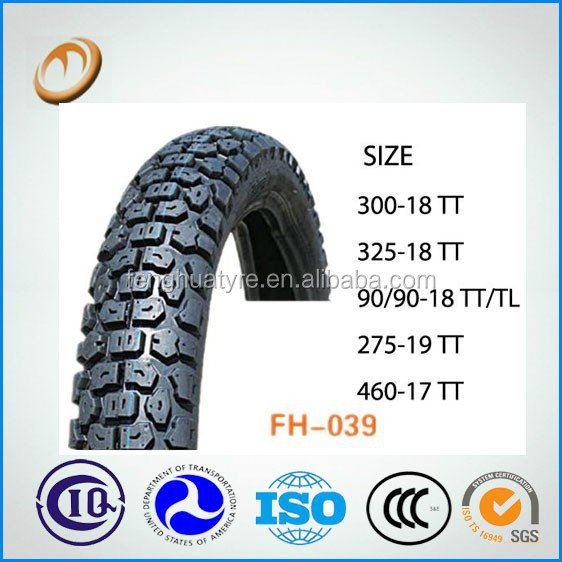 high quality china motorcycle tyre price off road 3.00-18 motorcycle tyre