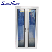 China factory cheap aluminum double sash arched casement french window
