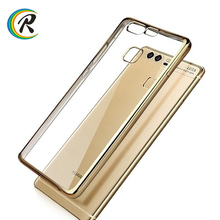 New product P9 case for Huawei P9 Plating Electroplating tpu silicone wood leather soft phone case