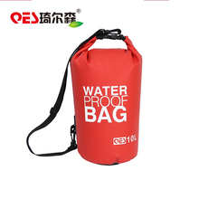 2017 Wholesale Cheap Floating Sport Camping Waterproof Dry Bag PVC Tarpaulin Custom Logo Dry Bag With Carry Strap