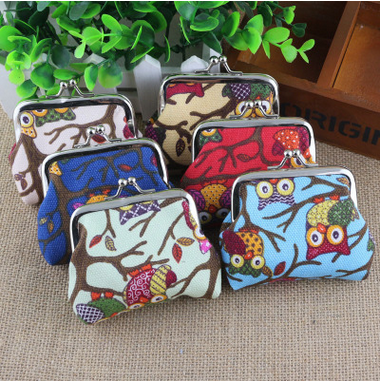 Chinese Style Women Canvas Antique Small Mini Wallet, lady purse