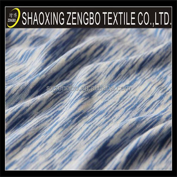 100% POLYESTER Slub knitted fabric,slub chambray fabric