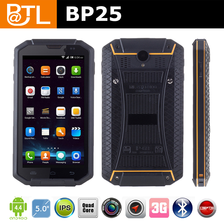 WDF834 BATL BP25 OTG industrial 4 inch water proof snopow m6 rugged phone,android phone for apps management