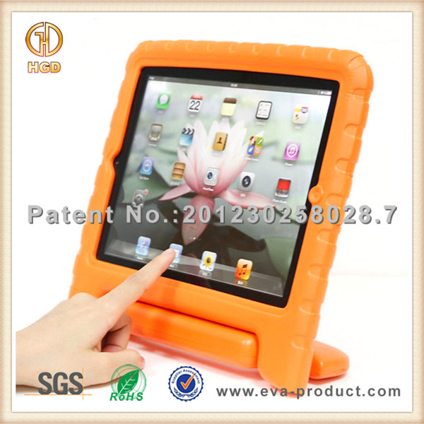 Standable shockproof EVA case for i pad air for kids