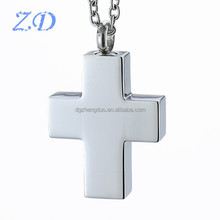 China Wholesale Fashion Ashes Jewelry Catholic Jesus Cross Memorial Cremation Pendant Necklace Urns for Human Ashes