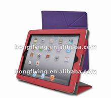 Popular South American stylel Magnet bookcase with Black Top grain leather case for ipad2