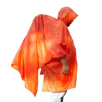 Multi Outdoor Sports Camping Travel Poncho Waterproof Raincoat Rain Cover Orange