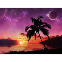 D1 Decorative sea beauty tile mural wall outer space