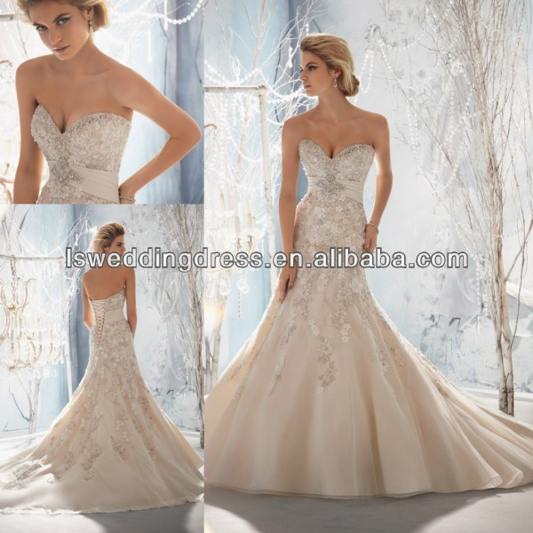 Wd3090beaded diamonds sweetheart neck sleeveless strapless for Diamond mermaid wedding dresses