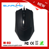 High quality Cheap computer mouse usb optical custom wired mouse with black colour
