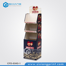 Cheap supermarket promotion cardboard stacking cubes display for teapot