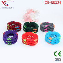 Wrist support soft cotton cuff hair decoration elastic hair band for women girls