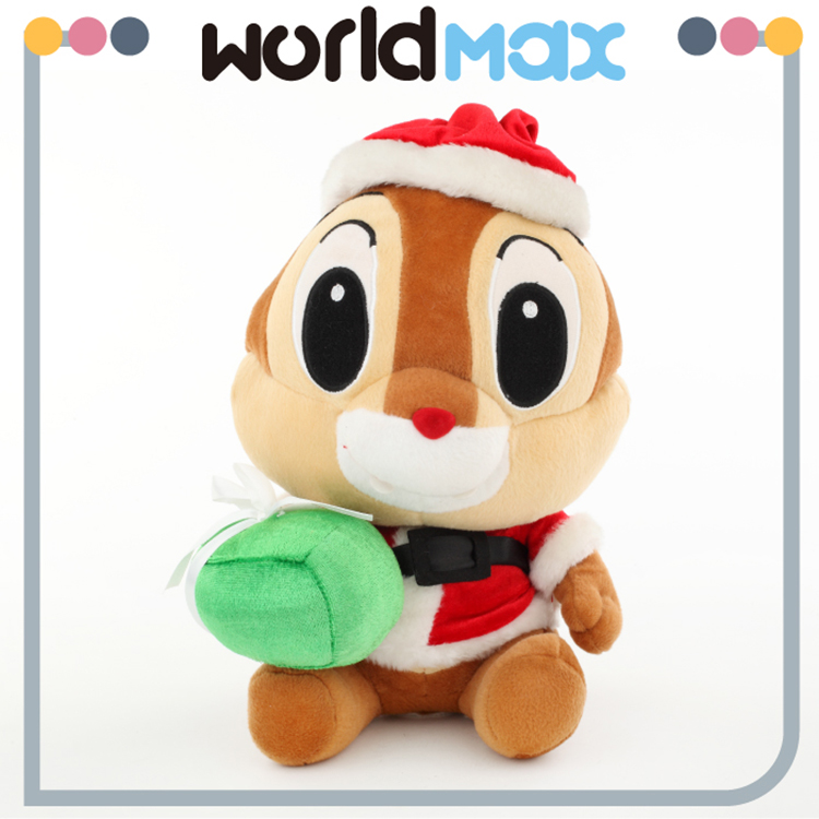 New Arrival Soft Cartoon Plush Toy Christmas Squirrel For Baby