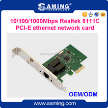 PCI-E gigabit Ethernet lan card/ network adapter/ NIC with Realtek 8111C chip