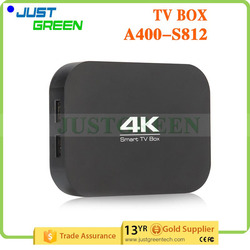 WIFI Bluetooh 2GB 8GB Amlogic S812 Quad core A 400 android 4.4 smart tv box android