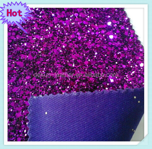 Purple Glitter Wallpaper fabric with large and small particles mixed