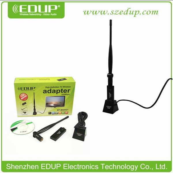EDUP EP-MS8521 300mbps USB2.0 Keyboard 802.11n/g/b Wireless Wifi Ethernet Adapter Card With 6DBI Antenna and Strong Base
