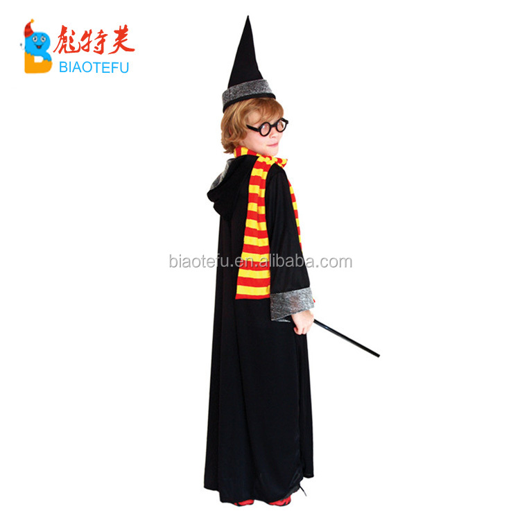 hotsale harry kids wizard black cloak gown potter cosplay costumes