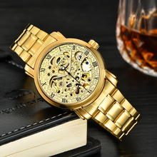 2017 new customized luxury color plated bands gold wrist watch for men
