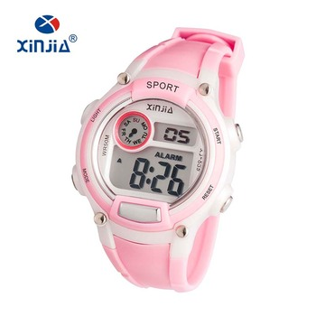 New Promotional Watch Children Gift Popular Sport Digital Watch with Chronograph Alarm Snooze ABS Case Stainless Steel Case Back
